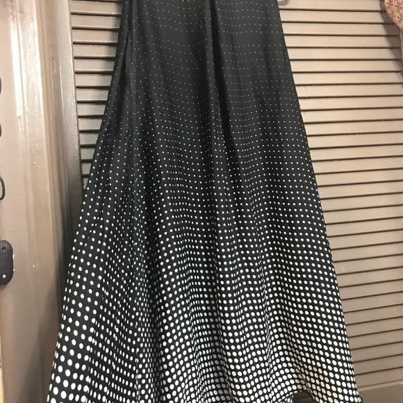 Lbisse Dresses & Skirts - Lbisse black white polka dot size L swing dress